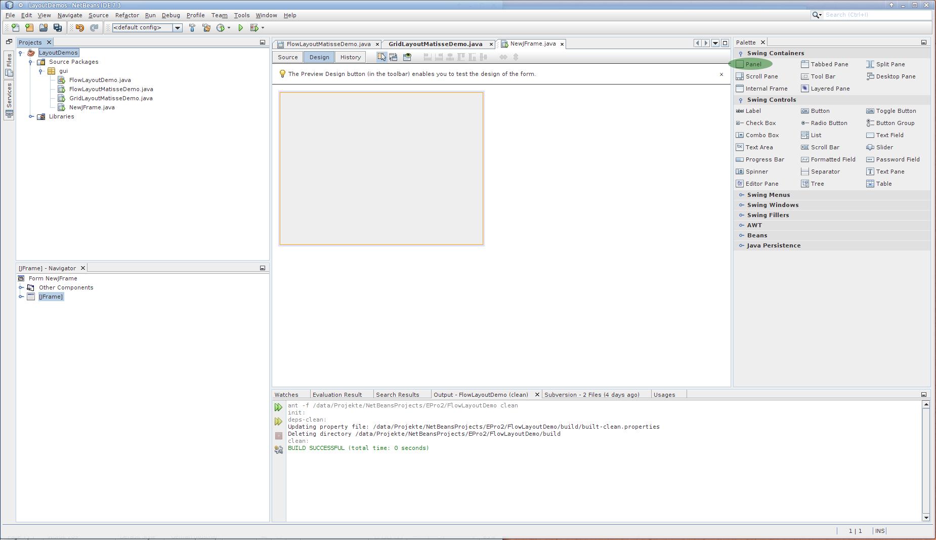 Grundlagen der GUI-Entwicklung mit Netbeans (matisse)